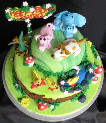 Fabulous Animal Birthday Cakes Walah Walah Funny Birthday Cards Online Alyptdamsfinfo